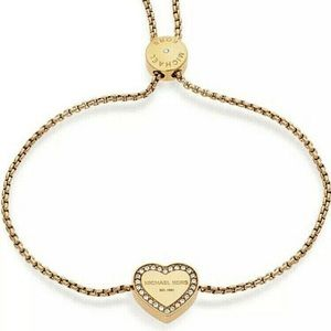 Michael Kors Heritage Gold Crystal Heart Bracelet